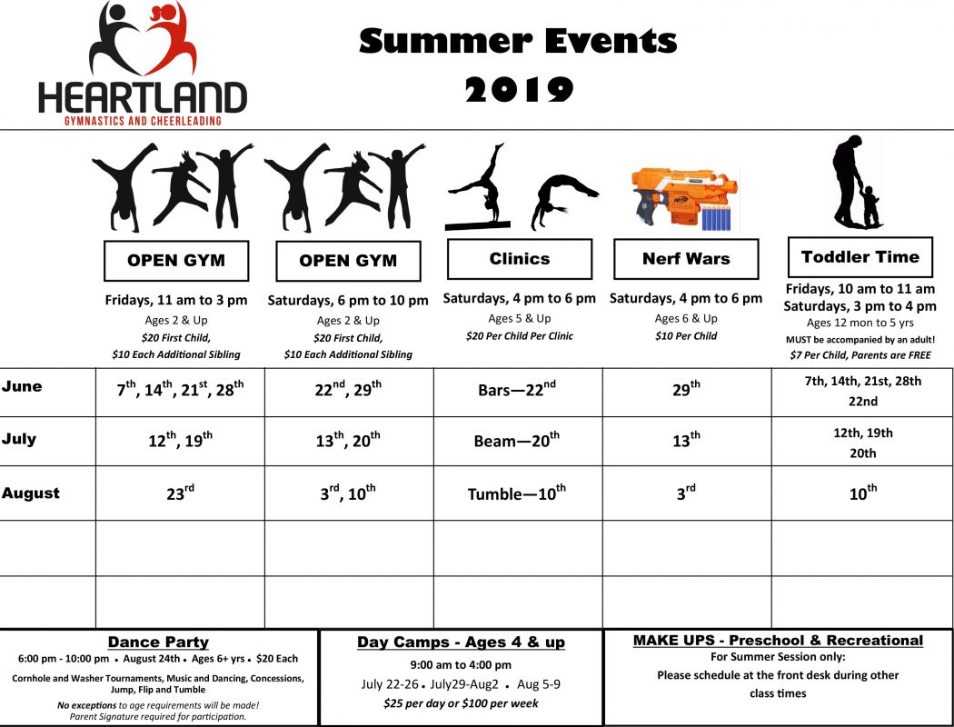 Summer Events 2019