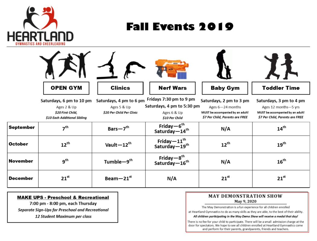 Fall events 2019
