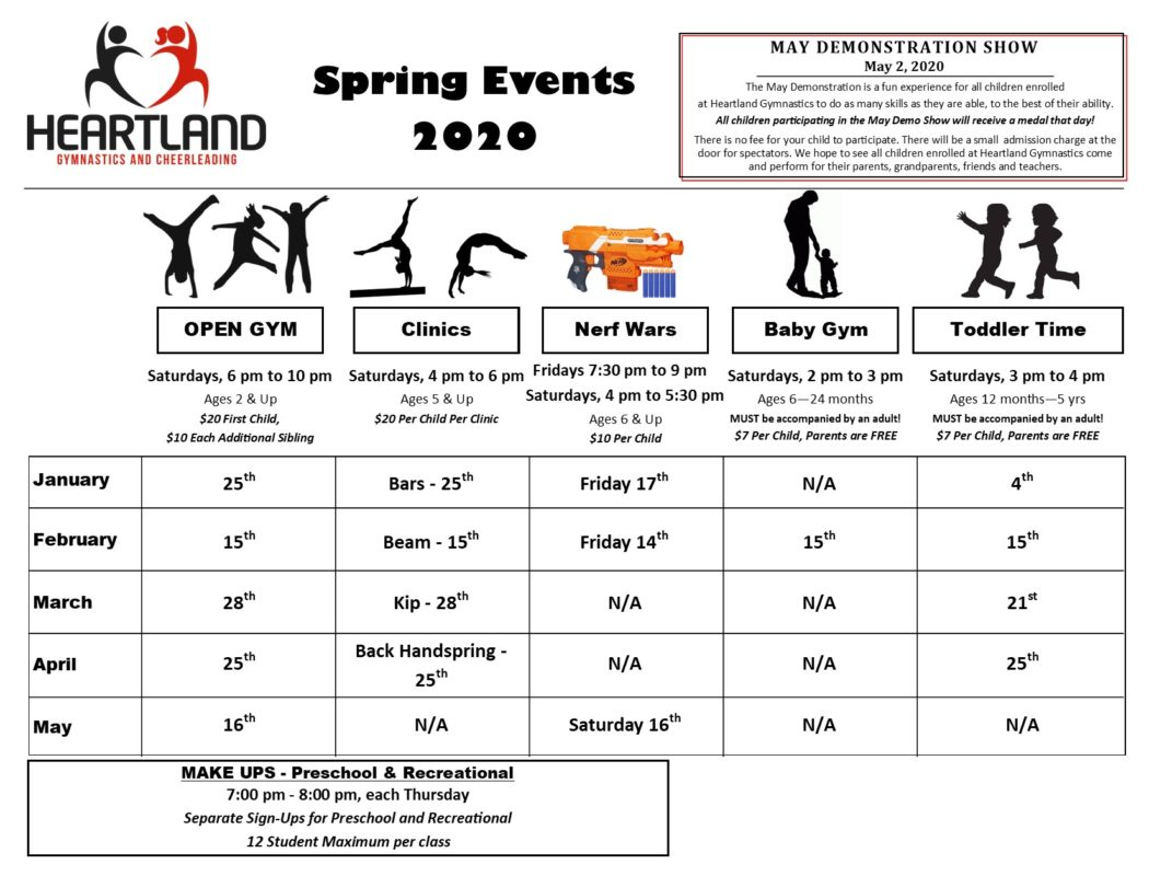 Spring Events 2020